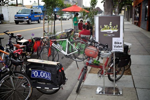 Bike Parking And Valet Is Setup