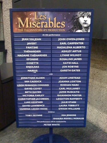 Les Miserables Cast List