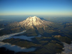 Mt Rainier in the sky