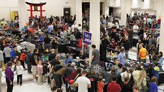 The Space theme table at Brickcon
