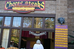 Of course there had to be a place selling cheesesteaks!