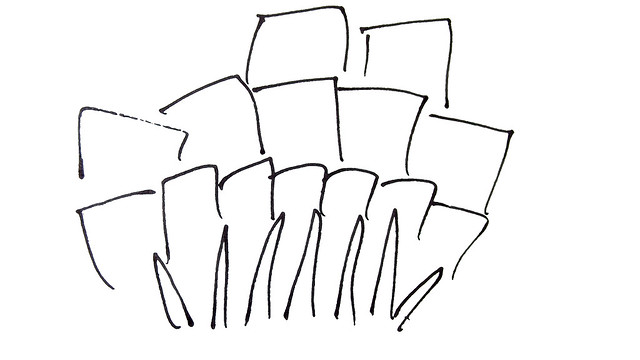 Quilt Pattern Sketches ~ Zinnias