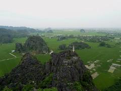 Tam Coc. Vistas desde el templo de Hang Mua