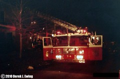 Latham, NY - Latham FD Truck 4 at a structure ...