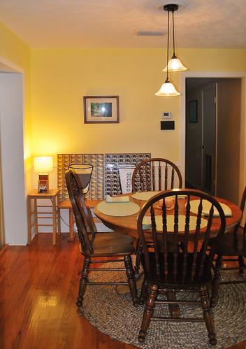rearranged dining room