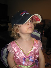 Princess dress and Bills hat