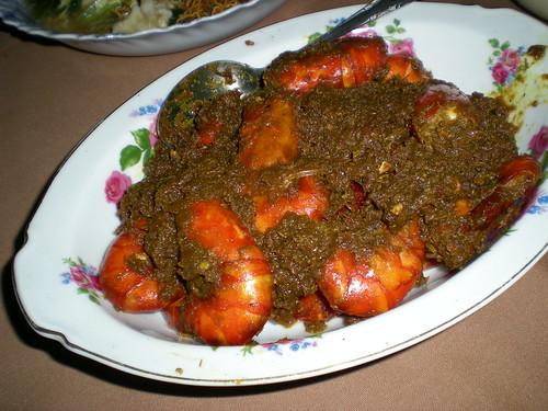 Aunty Helen's sambal prawns