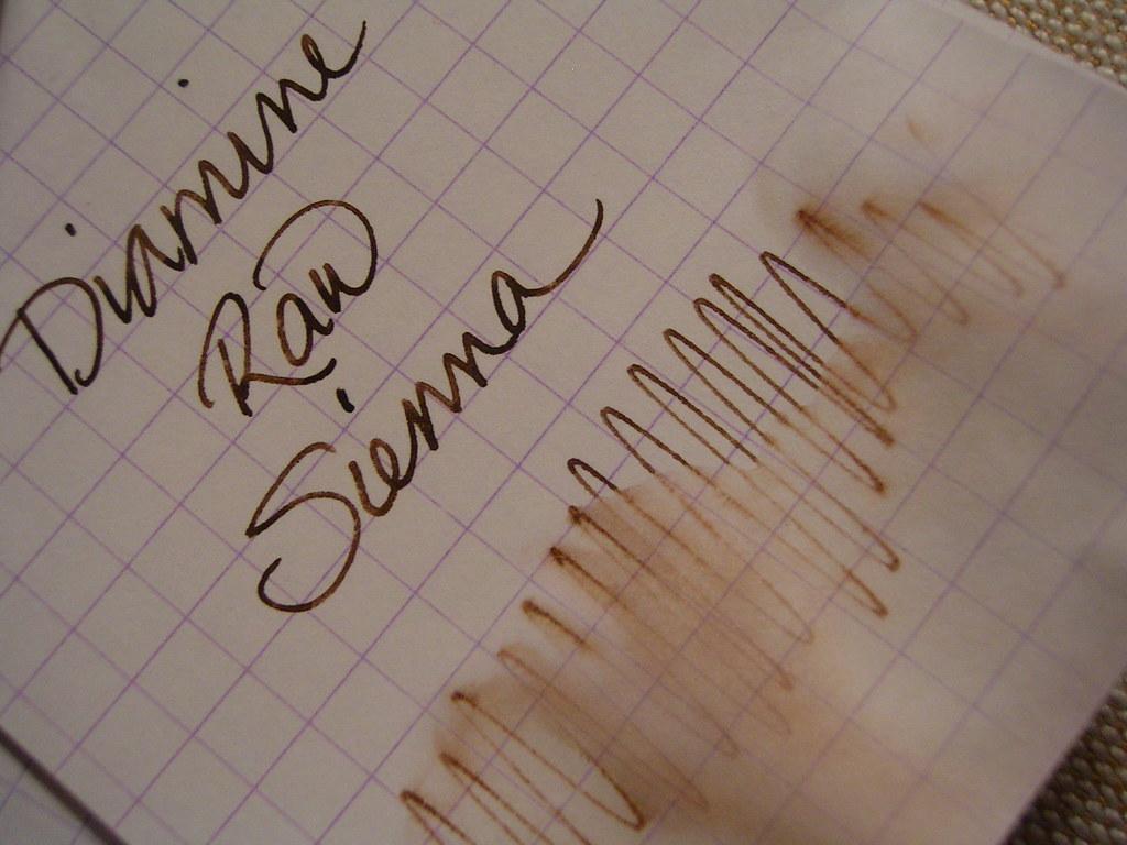 Diamine Raw Sienna Water Test