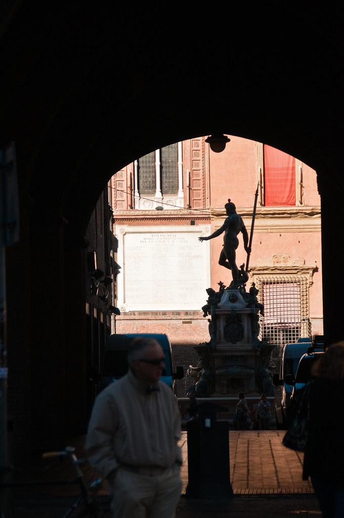 The Fountain of Neptune in Bologna