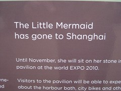 Copenhagen Little Mermaid is gone 27sept10-2