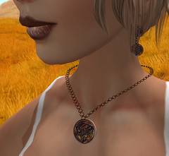 Dragonfire necklace and ear-ring