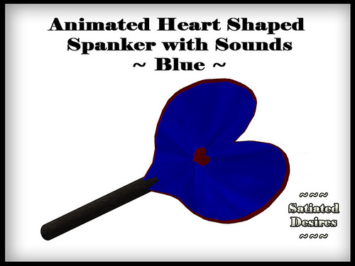 Heart Shaped Spanker - Blue
