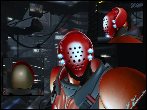 Male XEI - helmet detail