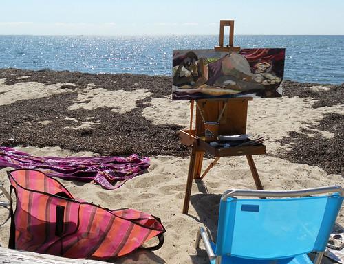 painting on truro beach