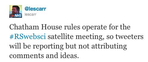 Chatham House Tweet