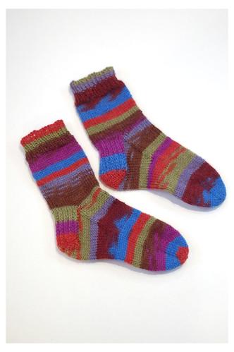 Mismatched socktoberfest socks