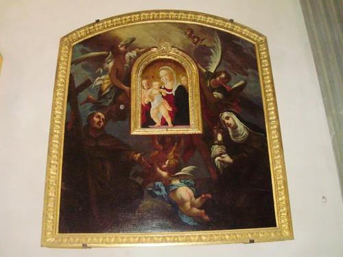 Madonna del 1400 Pier Francesco Fiorentino con Santi Francescani