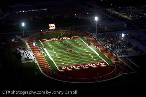 Gainsville Night Game Aerial