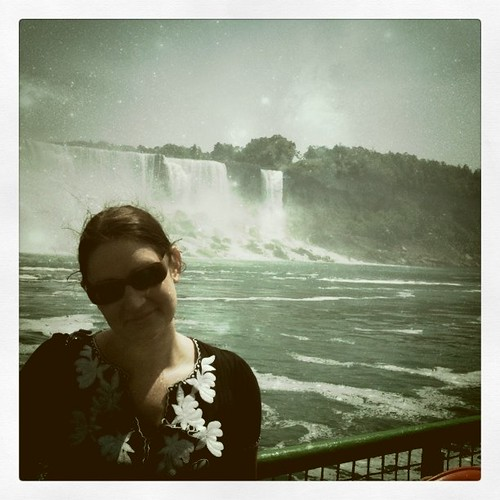 Sarah at Niagra Falls