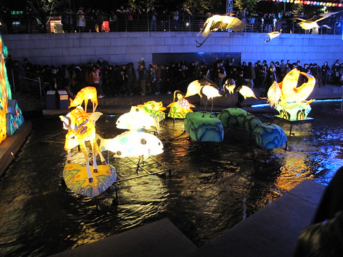 Lantern festival Seoul Look at the crowds of people