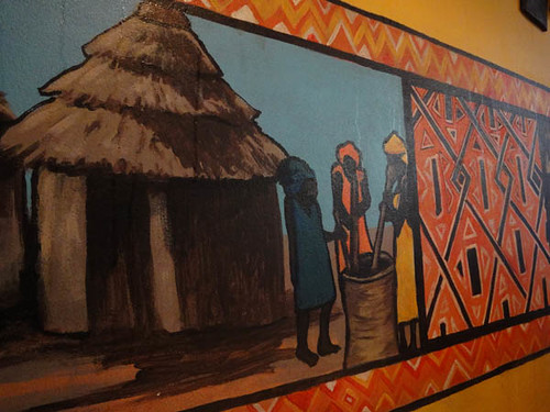 African Feeling: Wall paintings