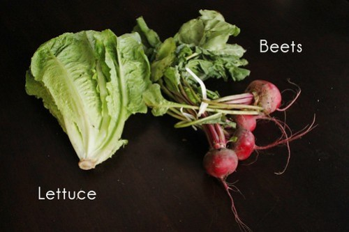 lettuce and beets
