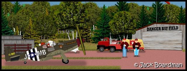 Boomer & Daisy taxi to the Main Hangar