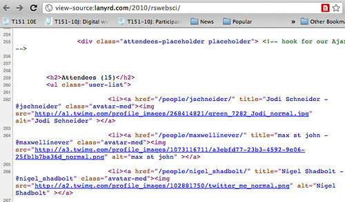 lanyrd HTML