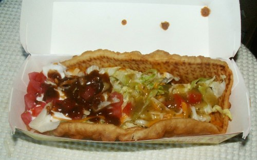 Taco Bell XXL Chalupa with Border Salsas