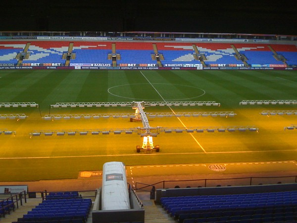 Encouraging the Grass to Grow at the ReeboK Stadium