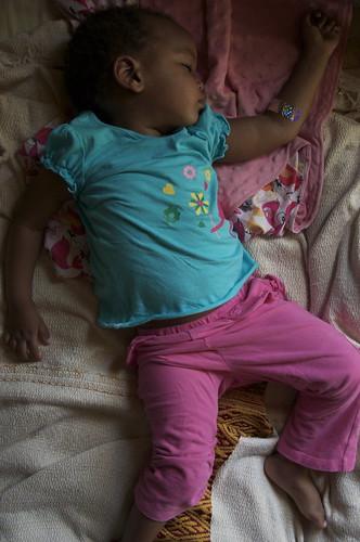 she fought sleep, and sleep won