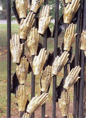 Wolviston, Millenium Hands Sculpture