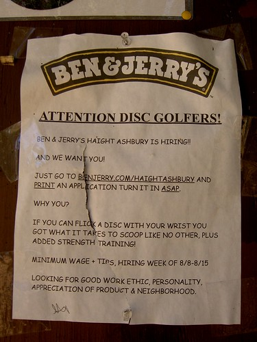 Ben and Jerry's job ad