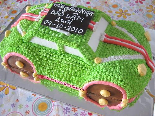 Green car cake2