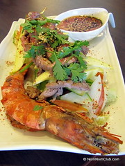 Grilled Prawn Beef Salad