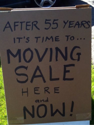 It's Time To Moving Sale