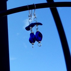 Lapis Lazuli and Glass Earrings