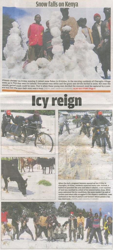It's snowing again in Kenya