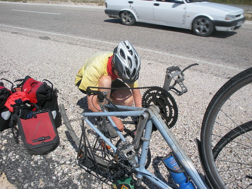 Rosalie fixes her one and only puncture