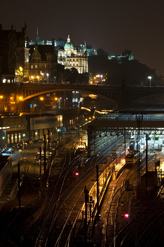 Rainy Edinburgh Night