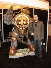 Tom Edwards with Big Daddy from Bioshock - Blog