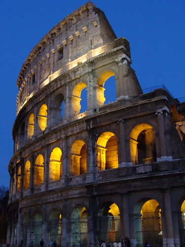 Colosseum Entrance at Night