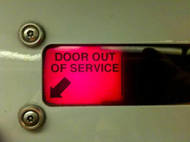 door out of service