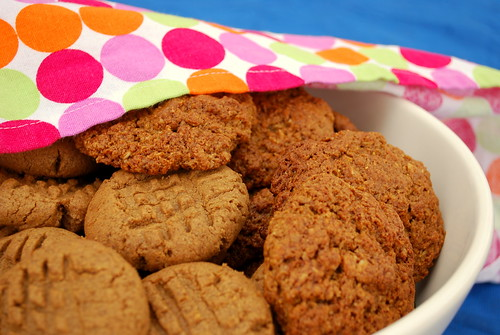 peanut butter cookies and banana cookies