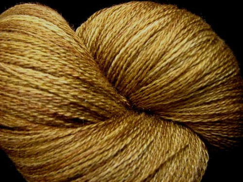 Golden Oak - Hand Dyed Lace Yarn - Zephyr Silk Merino