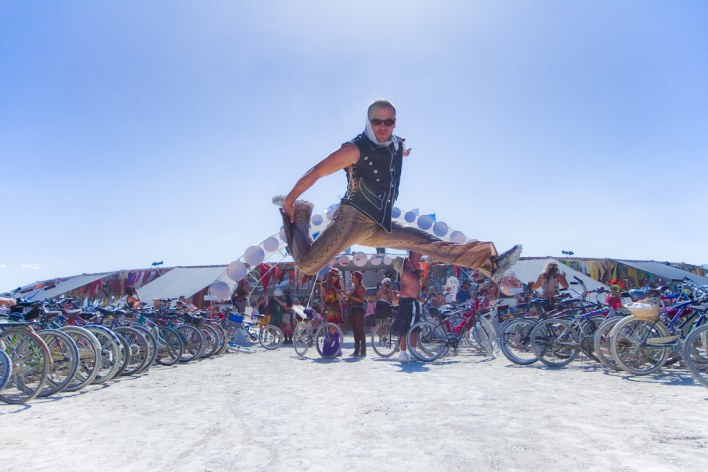 Tim Ferriss jumpshot @ Center Camp - Burning Man 2010