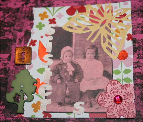 "Sisters 4"" x 4"" Collage"