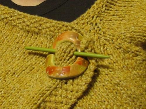 Shawl pin on Sassymetrical