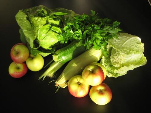 Amelishof organic CSA vegetables week 39, 2010