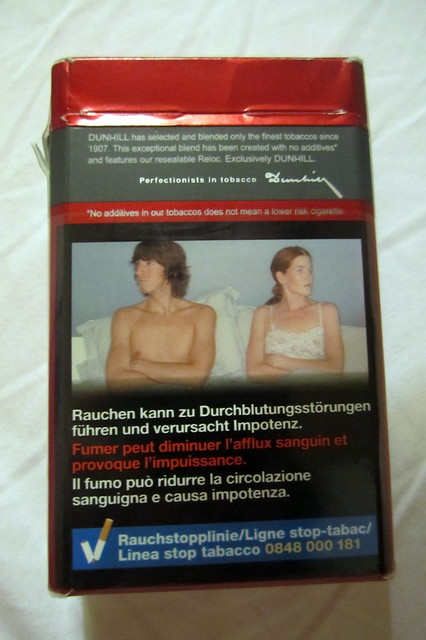 Cigarettes cause impotence